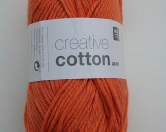 Rico Creative Cotton Aran Smokey Orange 072