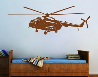 kik2320 Wall Decal Sticker military helicopter air transport children living room