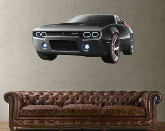 kcik65 Full Color Wall decal concept  powerful speed machine bedroom living room for teens