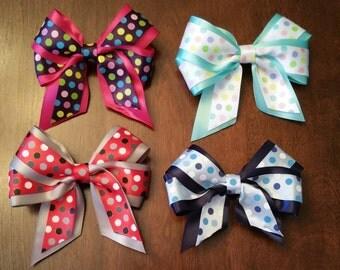 """Polka Dot 5"""" Hair Bow - Multiple color choices"""