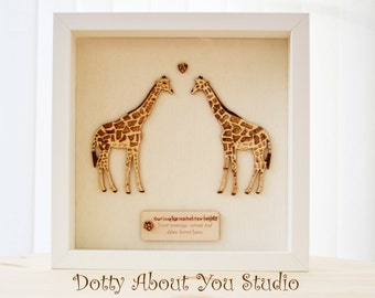 Giraffes in Love, Wedding or Engagement Gift.