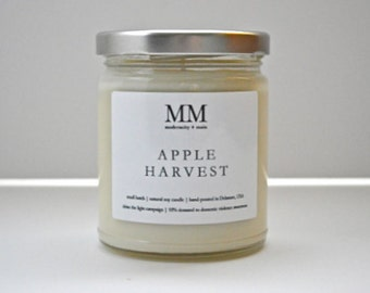 APPLE HARVEST // natural soy candle // hand-poured // small batch