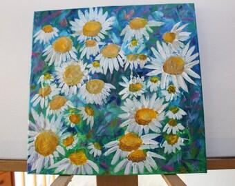 Flowers in Bloom #1 - 12 x 12