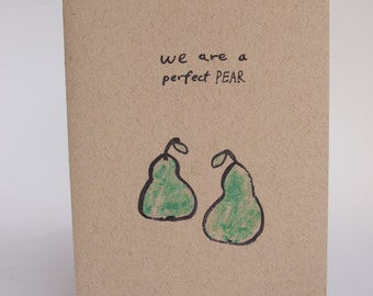 Greeting Card - perfect pear