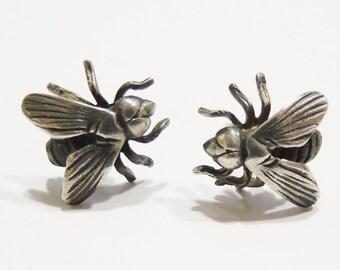 Fly earrings 925 Silver earrings 925 sterling silver.