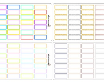 Quarter Boxes - planner stickers