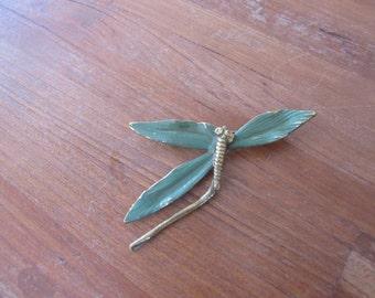 Vintage barrel Clasp Dragonfly Pin