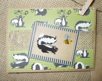 Woodland Creatures- skunk- greeting cards