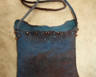 Hand-felted messenger bag