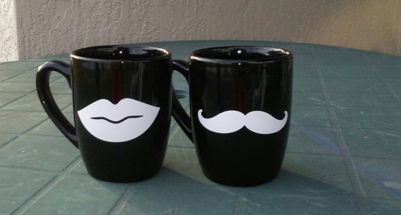 his and hers fun coffee mugs by mommyjoos on etsy. Black Bedroom Furniture Sets. Home Design Ideas