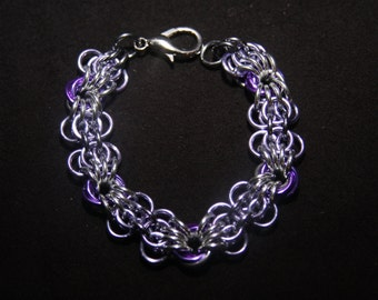 Butterfly Chainmaille Bracelet - Anodized Aluminum - Multicolored