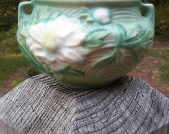 Roseville Pottery Peony Green