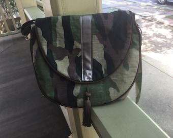 Handmade Hobo Camoflauge Handbag