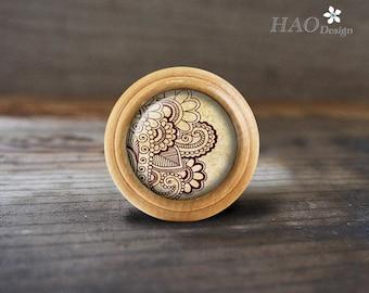ZEN-Wooden Domed Dresser knobs / Drawer Knobs Pulls Handles / Kitchen Cabinet Knobs Handle Pull /Dresser Drawer Knobs Pulls Handles