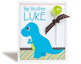 Personalised Dinosaur Lollipop Note