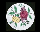 "8"" Blue Ridge Fruit JASON 8.25"" Salad Plate Vintage Pottery Southern Potteries Dinnerware Fondeville Fruit Series Hand Painted (B20) 7518"
