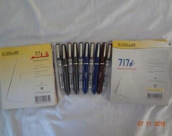 10x Dollar(5x 717 calligraphy + 5x 717i transparent) fountain pen free shipping