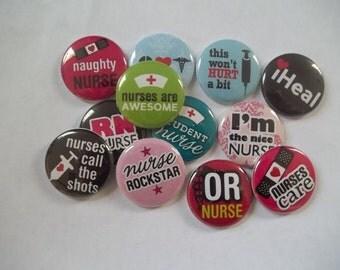 """Nurse 1"""" Buttons"""