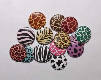 Animal Print Buttons (set of 20)