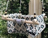 Toddler/Baby Swing: Blue Ikat Triangle