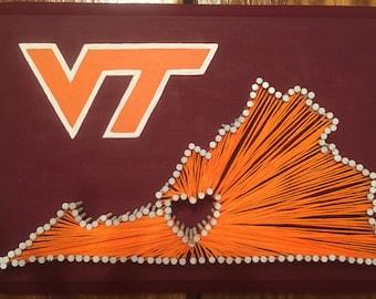 Virginia Tech String Art