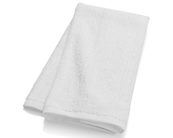 Pure white baptism towel