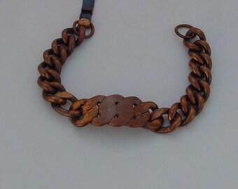Vintage 1970's Solid Copper Bracelet