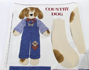 Vintage Country Dog sew yourself Fabric 100% cotton