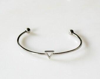 Silver Triangle Bracelet