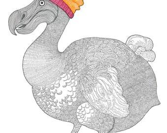 Derek the Dodo - card or mounted print by Racheal Bamford