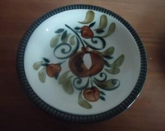 Boch La Louviere Argenteuil handpainted porcelain 3 pieces dinner set