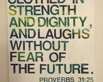 Custom Proverbs 31:25 Painting