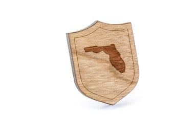 Florida Lapel Pin, Wooden Pin, Wooden Lapel, Gift For Him or Her, Wedding Gifts, Groomsman Gifts, and Personalized