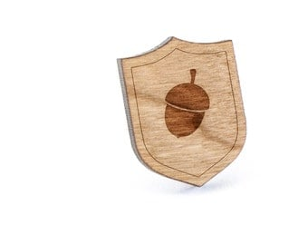 Acorn Lapel Pin, Wooden Pin, Wooden Lapel, Gift For Him or Her, Wedding Gifts, Groomsman Gifts, and Personalized