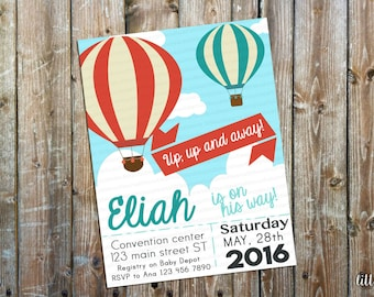 Hot Air Baloons Invitation