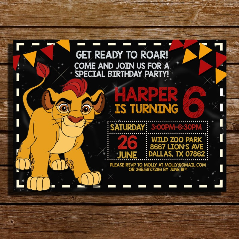 Lion King Birthday Invitations with awesome invitations sample