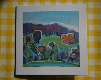 Melbury woods in Autumn card