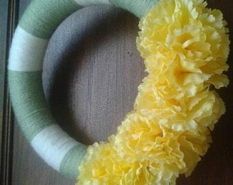 Yarn Wrapped Wreath
