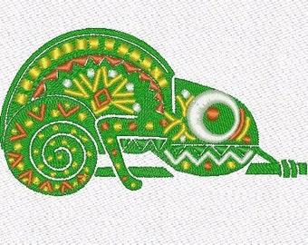 Chameleon Lizard machine embroidery designs