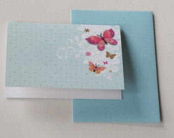 greeting card double Deluxe with envelope 14, 8 x 10, 5cm