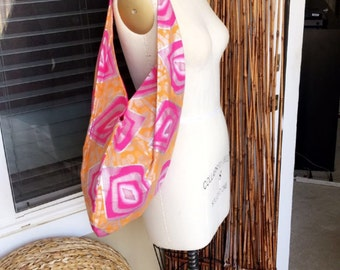 Vibrantly Colored African Print Shoulder Bag