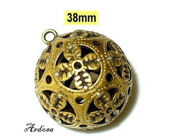 1 massive and filigree ball bronze, trailers (K106)