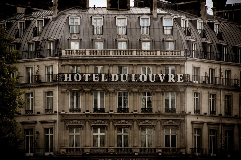 hotel du louvre paris buildings vintage paris. Black Bedroom Furniture Sets. Home Design Ideas