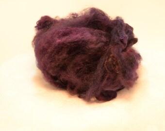Purple Alpaca Fiber