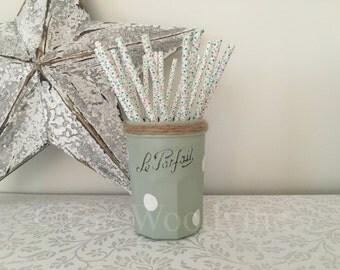 Le Parfait hand painted glass vase