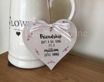 Friend Heart Plaque Gift