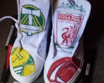 Custom paintied team spirit shoes