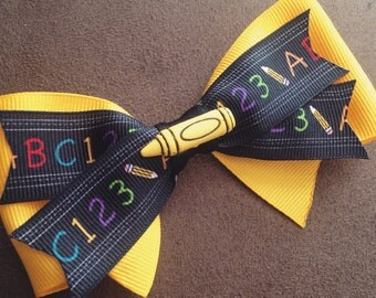 SALE: Back to school hair bows