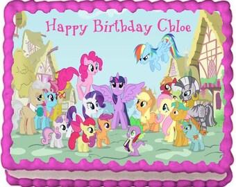My Little Pony Edible Cake Topper