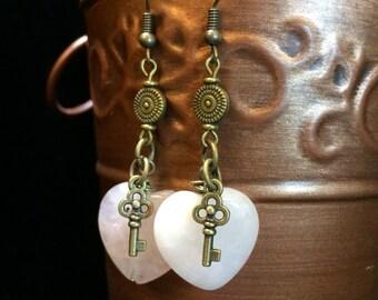 Hearts and Keys Earrings